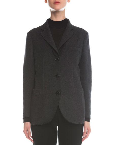 Giorgio Armani Felted Silk Boyfriend Three-Button Jacket
