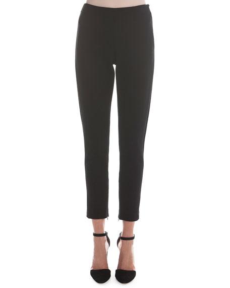 Giorgio Armani Jersey Zip-Cuff Ankle Pants