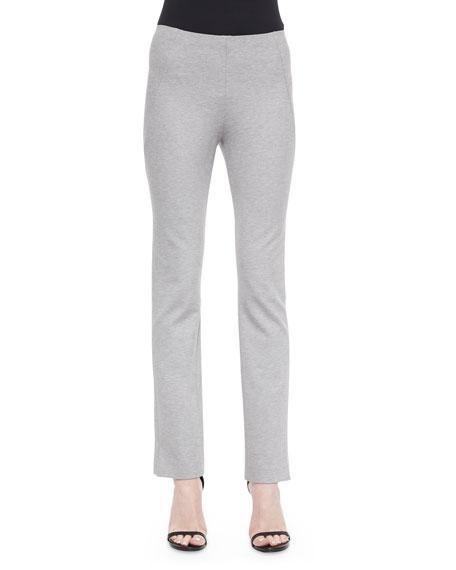 Donna Karan Slit-Cuff Jersey Leggings