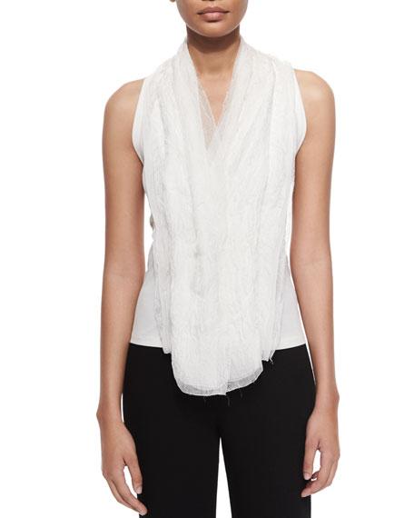 Donna Karan V-Neck Drape-Front Top