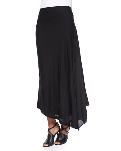 Double-Layer Long Pull-On Skirt