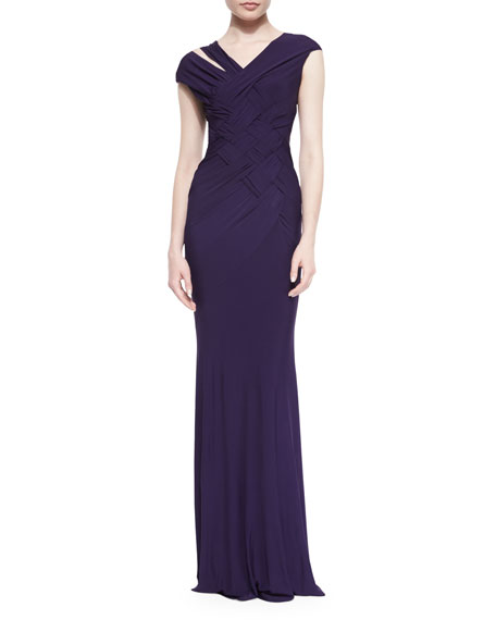 Donna Karan FLOOR LENGTH CAP SLEEVE DRAP