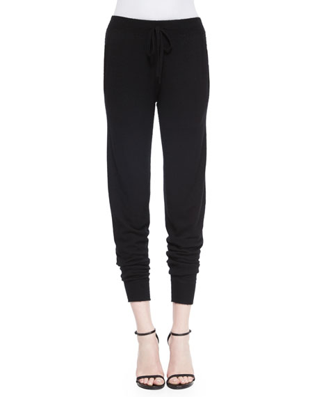 Donna Karan Stretch Cashmere-Blend Sweatpants