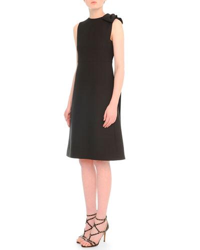 Bow-Draped A-Line Dress