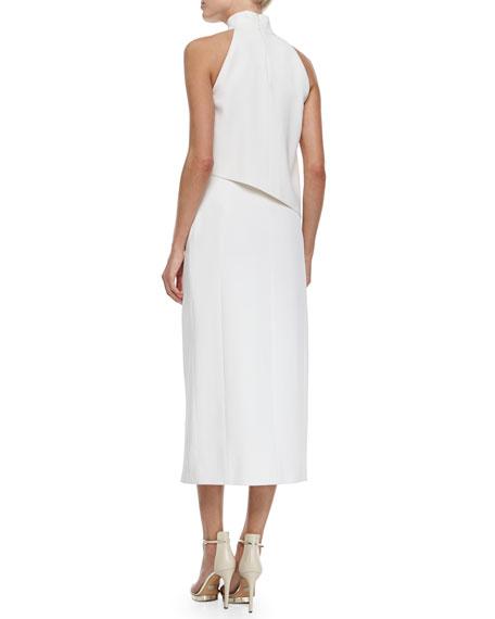 High-Slit Asymmetric Grommet-Trimmed Dress