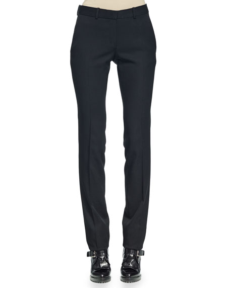 Alexander McQueen Slim-Fit Straight-Leg Pants