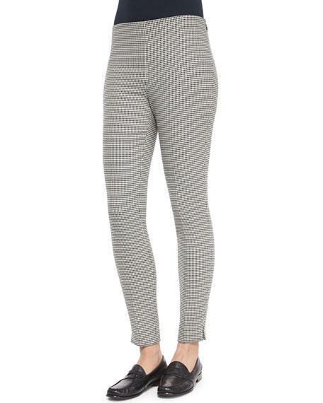 Ralph Lauren Black Label Houndstooth Wool Side-Zip Pants