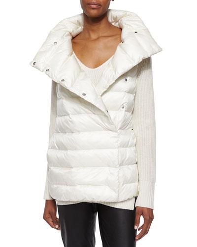 Shawl-Collar Puffer Vest