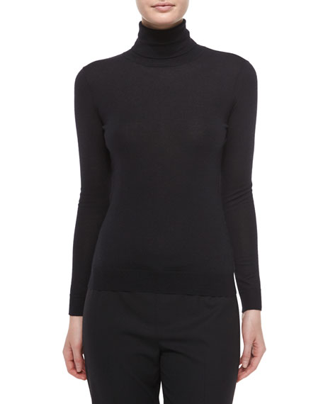 Ralph Lauren Black Label Cashmere-Silk Knit Turtleneck Top