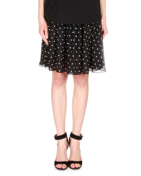 Givenchy Polka Dot Ruffled Skirt