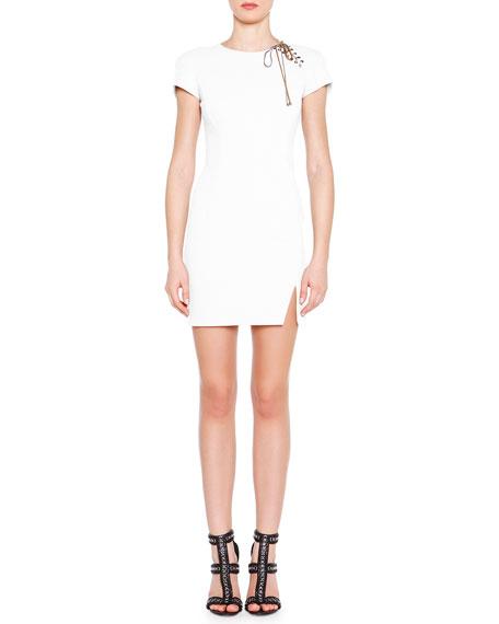 Emilio Pucci Lace-Up Shoulder Mini Dress