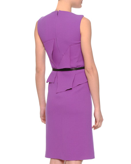 Asymmetric Crepe Fold-Over Dress