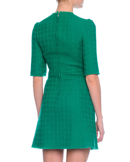 Tweed Double-Breasted Dress