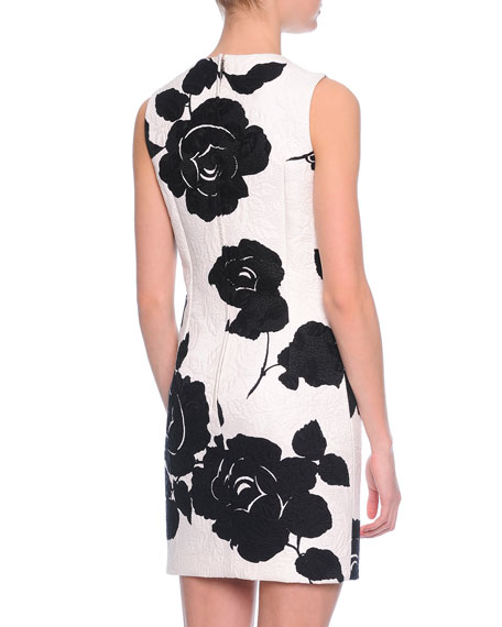 Dolce gabbana floral print shift dress blackwhite neiman marcus mightylinksfo