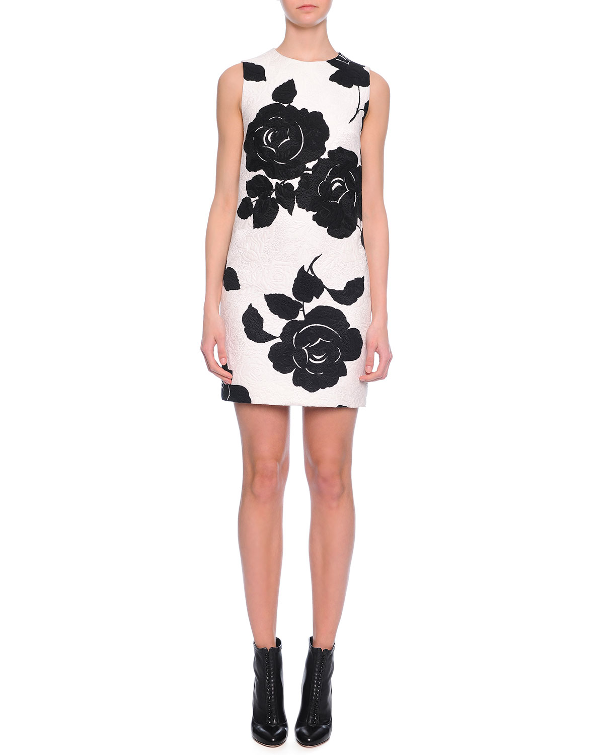 Dolce gabbana floral print shift dress blackwhite neiman marcus floral print shift dress blackwhite mightylinksfo