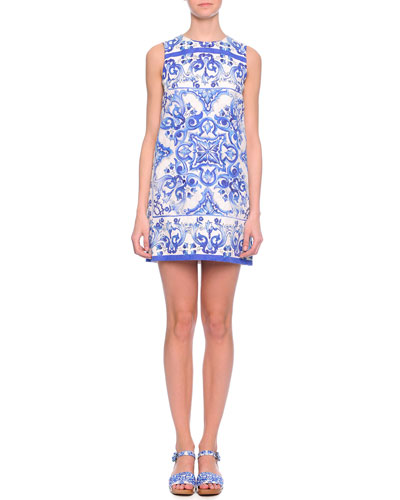 Dolce & Gabbana Tile-Print Shift Dress