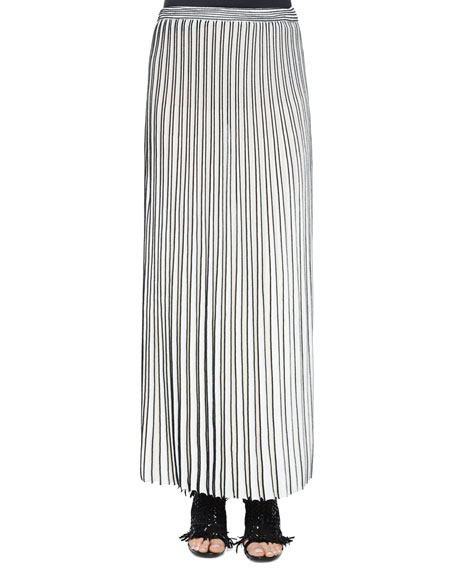 Proenza Schouler Pleated Long Knit Skirt