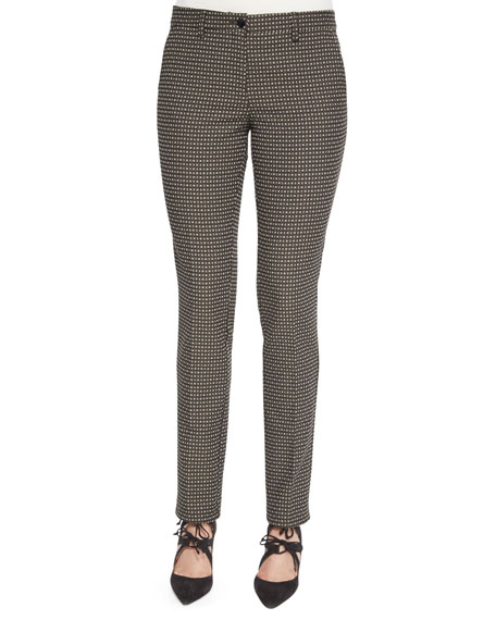 Etro Medallion-Print Skinny Cropped Pants
