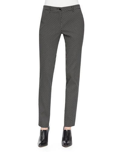 Dotted Jacquard Skinny Pants