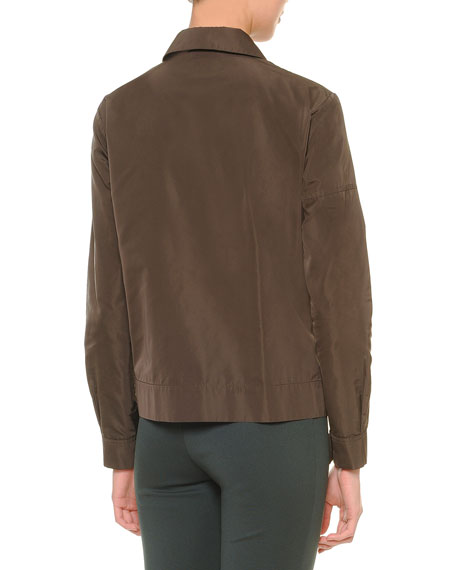Two-Way Zip-Front Bomber Jacket