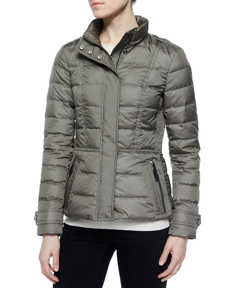 Dalesbury Short Feminine Puffer Jacket, Gray