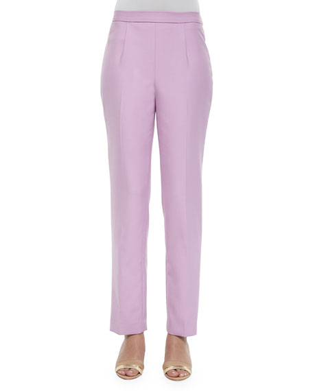 Shamask Double-Face Flat Front Pants, Orchid