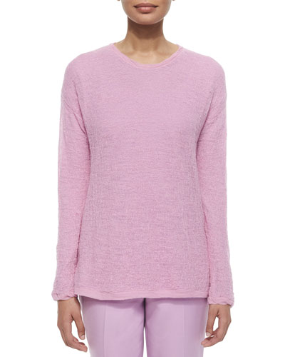 Alpaca Long-Sleeve Sweater, Orchid
