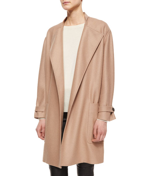 OVERSIZE WRAP COAT W/POCKET