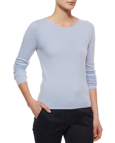 Cashmere Seamless Long-Sleeve Sweater