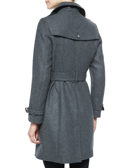Burberry Brit Single-Breasted Wool-Blend Trenchcoat