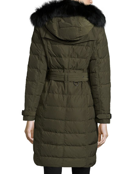 Allerdale Double-Breasted Puffer Coat with Fur