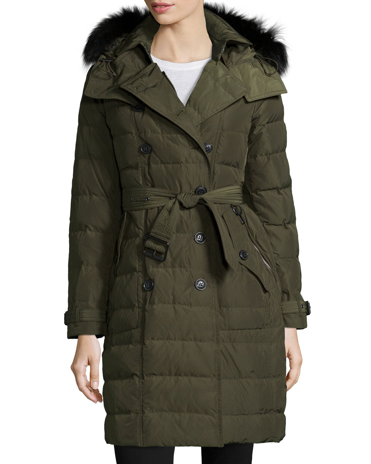a480a55b0 Allerdale Double-Breasted Puffer Coat with Fur