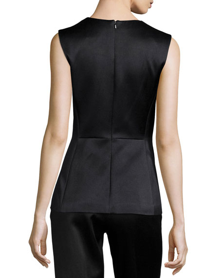 V-Neck Origami Peplum Top