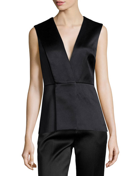 Jason Wu V-Neck Origami Peplum Top