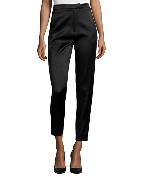 Jason Wu High-Waisted Sateen Slim Pants