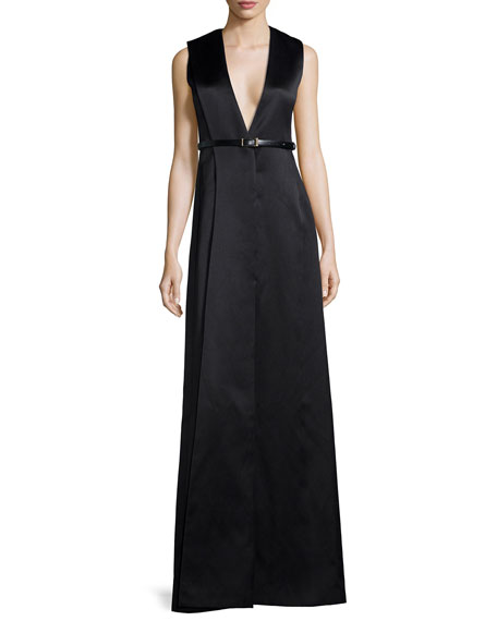 Jason Wu V-Neck Origami Sateen Gown