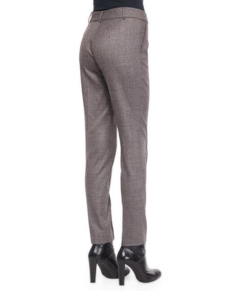 Jennifer Speckled Tweed Ankle Pants