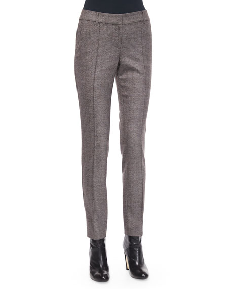 St. John Collection Jennifer Speckled Tweed Ankle Pants