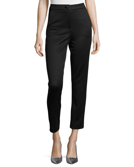 Cushnie et Ochs High-Waist Lullaby Jersey Ankle Pants