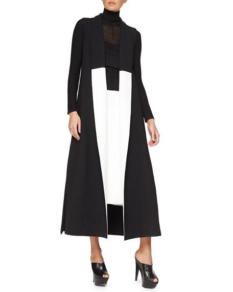Narciso Rodriguez Sleeveless Two-Tone Crepe Coat