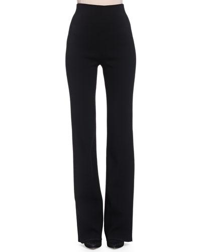 High-Waisted Stretch Ponte Pants