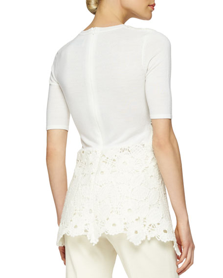 Floral Lace Peplum Layered Top