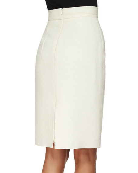 Double-Faced Pencil Skirt