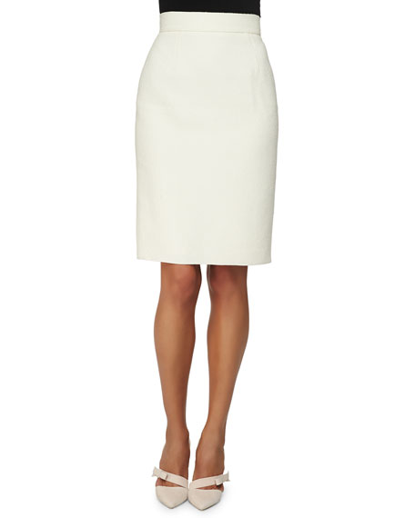 Oscar de la Renta Double-Faced Pencil Skirt