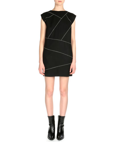 Diagonal Crystal Bandage Dress