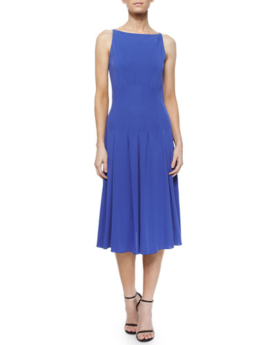 Sleeveless Seamed Jersey Dress
