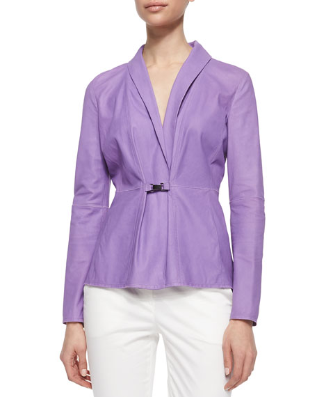 Armani Collezioni NAPPA BUCKLE CLOSE JACKET