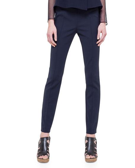 Akris Melissa Double-Faced Slim Pants, Navy