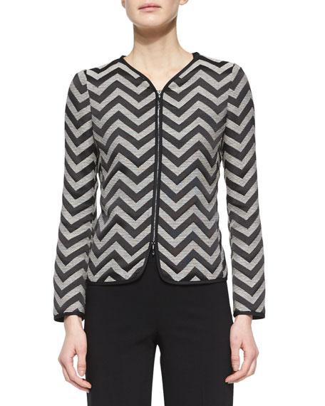 Zigzag Zip-Front Jacket