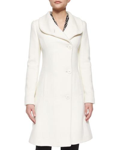Cashmere-Blend Asymmetric Coat